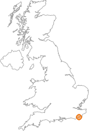 map showing location of Ore, East Sussex