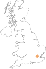 map showing location of Osidge, Greater London