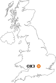 map showing location of OX3