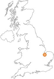 map showing location of Parson Drove, Cambridgeshire