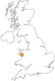 map showing location of Pen-sarn, Gwynedd