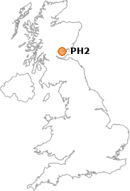 map showing location of PH2
