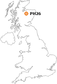 map showing location of PH26