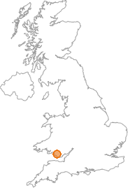 map showing location of Pitcot, Vale of Glamorgan