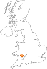 map showing location of Pontsticill, Merthyr Tydfil