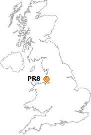 map showing location of PR8
