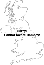 map showing location of Ramsey, Cambridgeshire