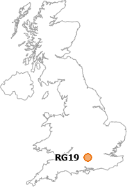 map showing location of RG19