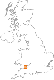map showing location of Rhoose, Vale of Glamorgan