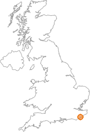 map showing location of Rye Harbour, East Sussex