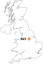 map showing location of S65