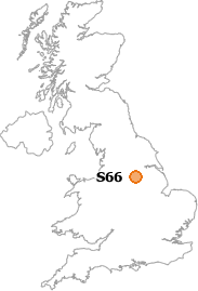 map showing location of S66