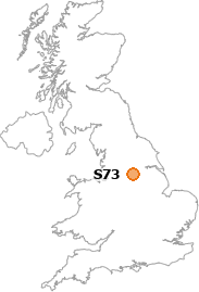 map showing location of S73
