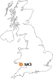 map showing location of SA3