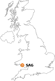 map showing location of SA6