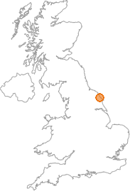 map showing location of Scarborough, North Yorkshire