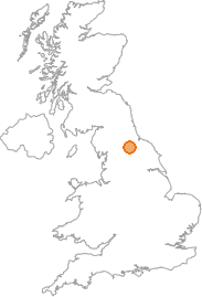 map showing location of Scorton, North Yorkshire