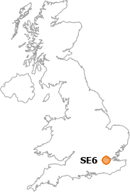 map showing location of SE6
