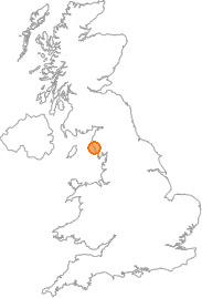 map showing location of Sellafield, Cumbria