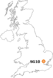map showing location of SG10