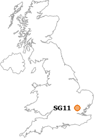 map showing location of SG11