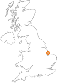 map showing location of Skegness, Lincolnshire