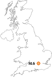 map showing location of SL6