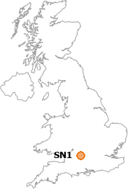 map showing location of SN1