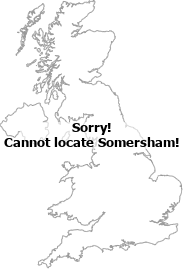 map showing location of Somersham, Cambridgeshire