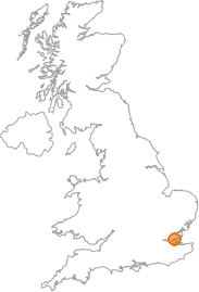 map showing location of South Benfleet, Essex