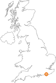 map showing location of South Common, East Sussex