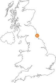 map showing location of South Shields, Tyne and Wear