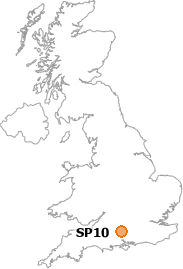 map showing location of SP10
