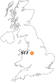 map showing location of ST7