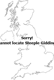 map showing location of Steeple Gidding, Cambridgeshire