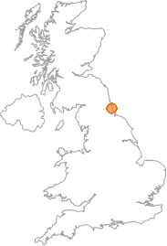 map showing location of Sunderland, Tyne and Wear