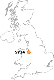 map showing location of SY14