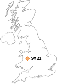 map showing location of SY21