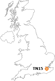 map showing location of TN15
