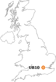 map showing location of UB10