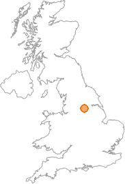 map showing location of Upton, West Yorkshire