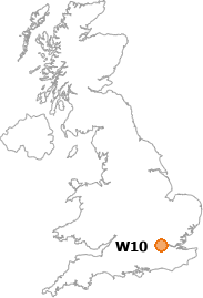 map showing location of W10