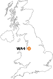 map showing location of WA4