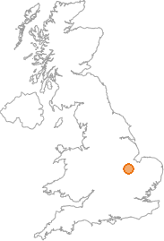 map showing location of Walton, Cambridgeshire