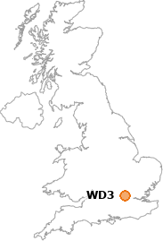 map showing location of WD3