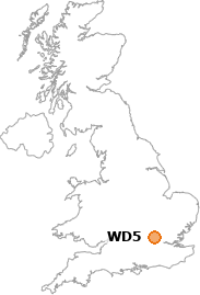 map showing location of WD5