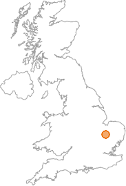 map showing location of Wentworth, Cambridgeshire