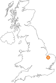 map showing location of West Dereham, Norfolk
