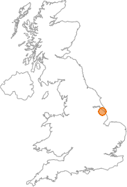 map showing location of West End, Lincolnshire
