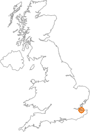 map showing location of West Minster, Kent